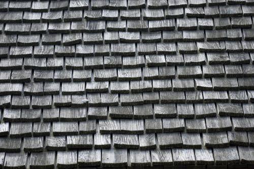 Old Wood Tile Roof