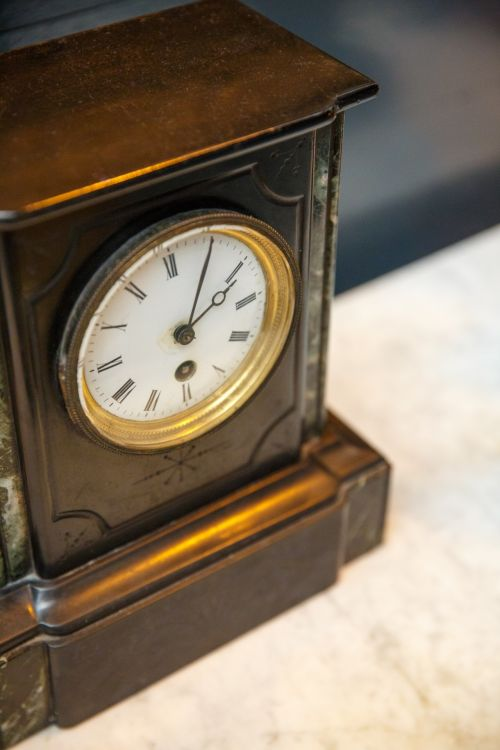 Old Wooden Table Clock