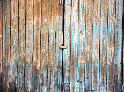 Old Worn Wooden Doors