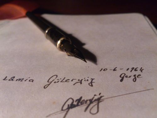 older notebooks souvenir feather pen