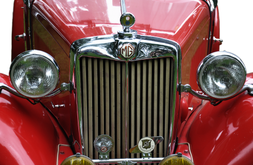 oldie,oldtimer,auto,vehicle,pkw,automotive,old,classic,nostalgia,spotlight,vintage car automobile,sports car,retro,car,rarity,flitzer,old vehicle,chrome,past,logo,companions,old car,car brand,mg,england,emblem,front,brand,dare,historically,red,vintage car mobile