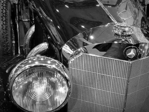 oldtimer mercedes spotlight