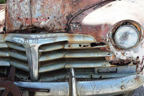oldtimer car wreck vintage