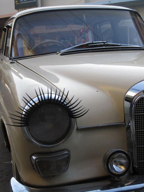 oldtimer eyelashes benz