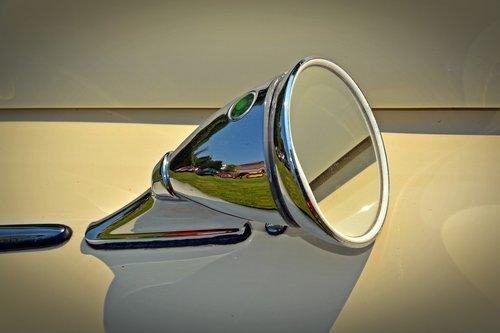 oldtimer  mirror  auto