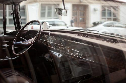 oldtimer car interior