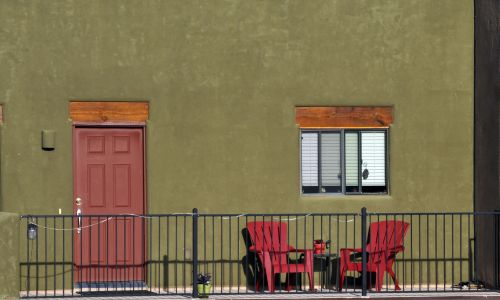 Olive Green And Red Patio