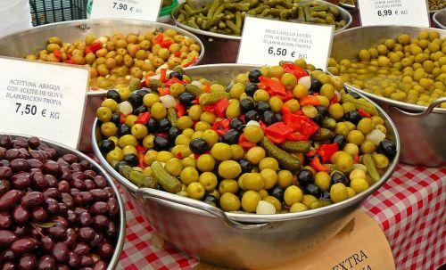 olives market drupes