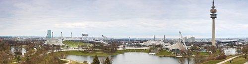 olympia tower  munich  city