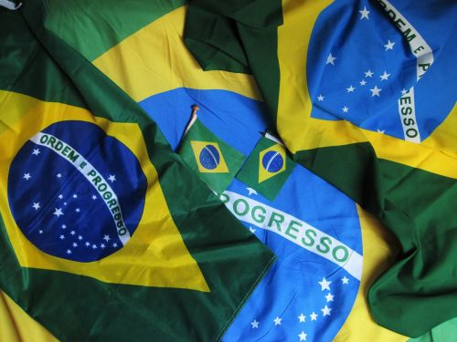 olympiad in brasil brazilian flag green-blue-yellow
