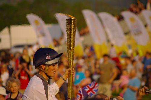 olympic fire olympics 2012 zara phillips
