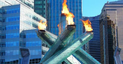 olympic torch vancouver cauldron