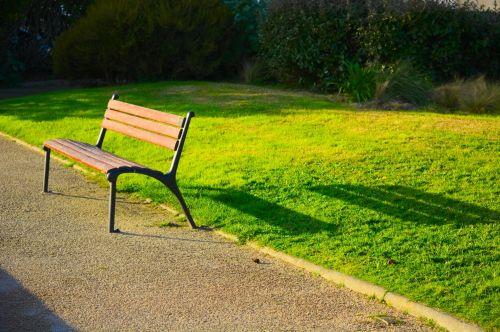 stendas, sėdi, parkas, lauke, atspalvis, sodas, žalias, žolė, atsipalaiduoti, tuščia, mediena, viešojo stendo šešėlis.