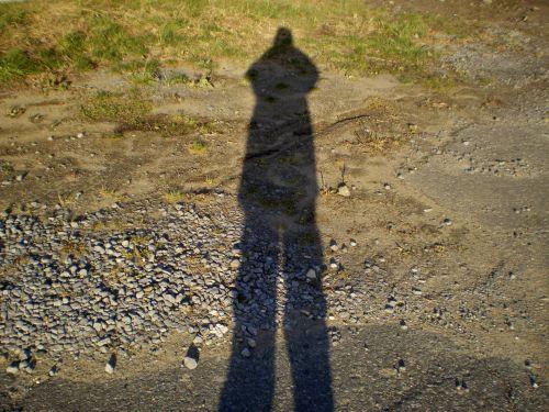 siluetas, šešėlis, žmogus, asmuo, kraštovaizdis, gamta, žmogaus šešėlis