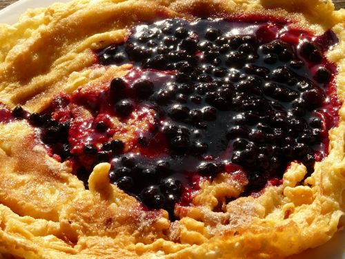 omelette cranberries pancake