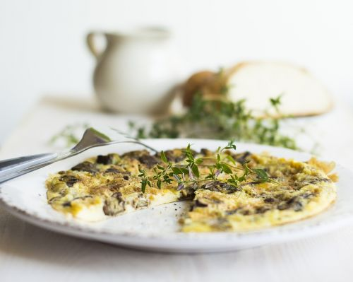 omelette breakfast mushrooms