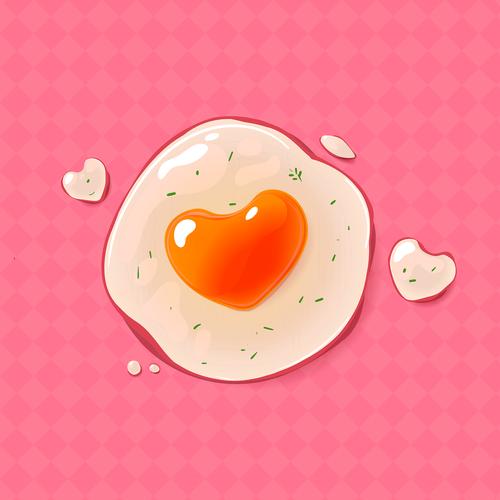 omelette  dish  heart