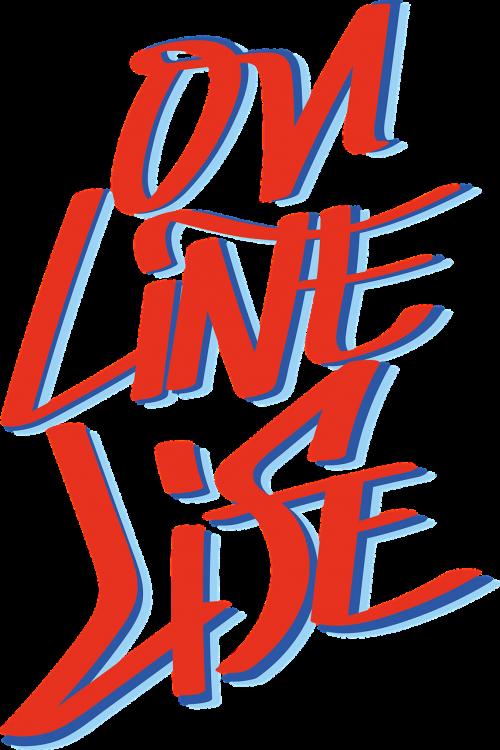 on-line life typography