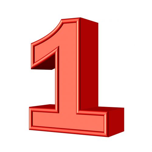 one 1 number