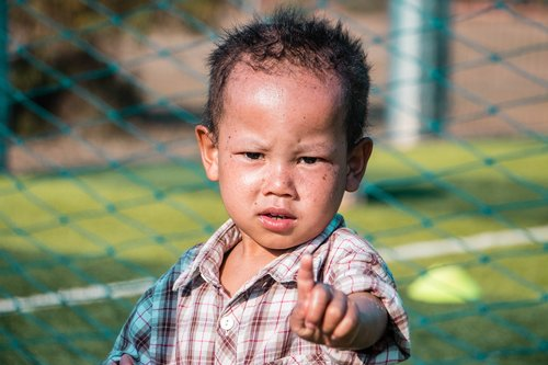 one finger  child  baby