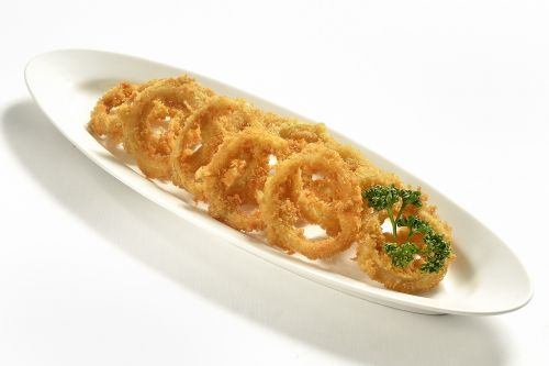 onion rings fast food deep fried