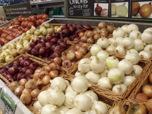 Onions In Supermarket