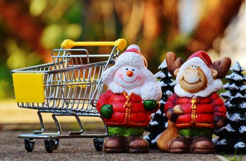 online shopping shopping cart christmas