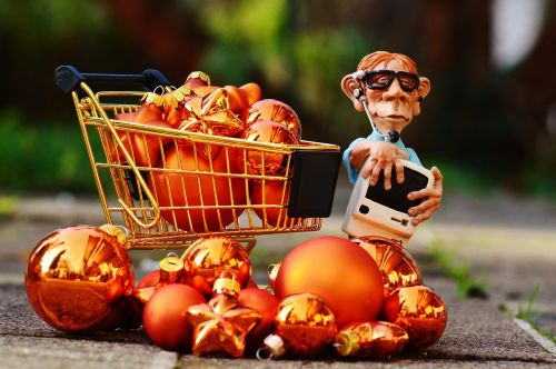 online shopping christmas shopping cart