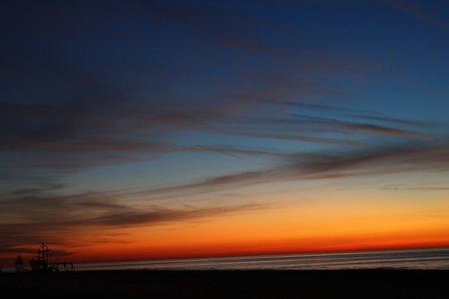oostende  west-vlaanderen  sunset