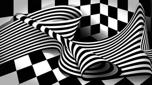 op art black white