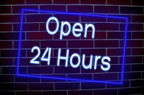 open opening hours neon