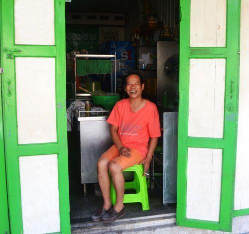open doorway doors man