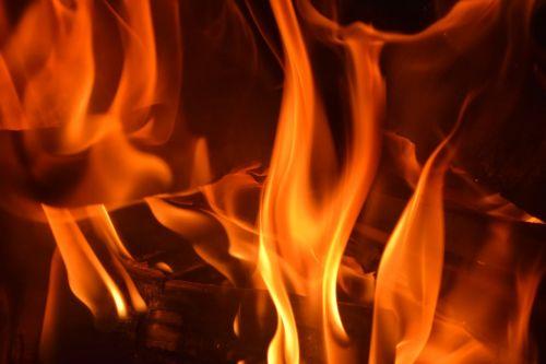 open fire flame heat