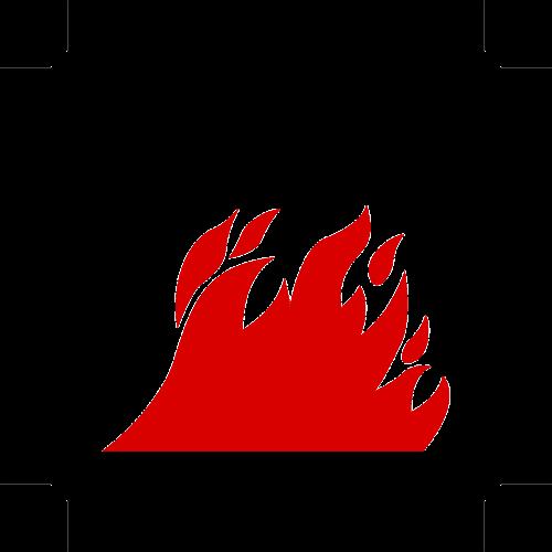 open flames open fire warning