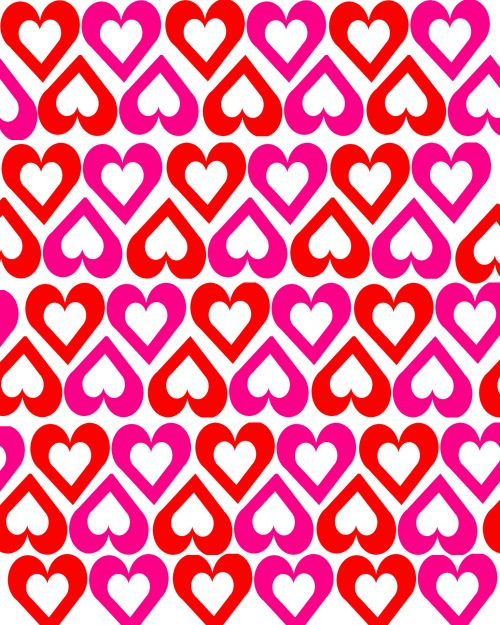 Open Hearts On White Background