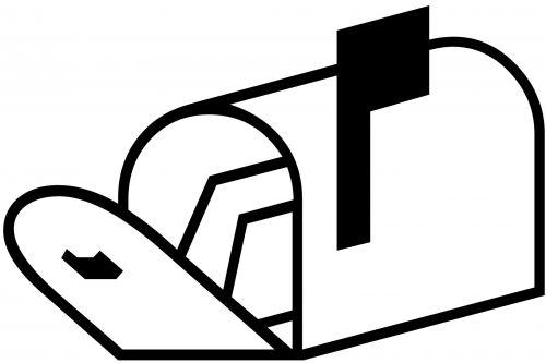 Open Mailbox Silhouette