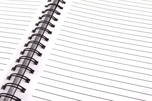 open notebook blank page notebook