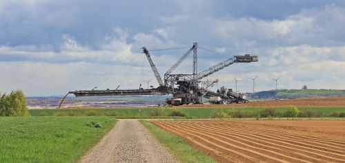 open pit mining open-cast mining inden brown coal