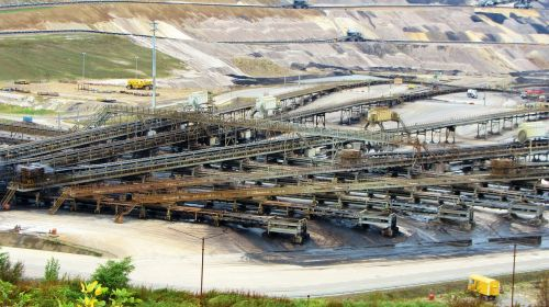 open pit mining inden raw materials
