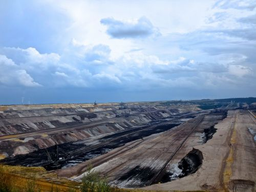 open pit mining garzweiler brown coal