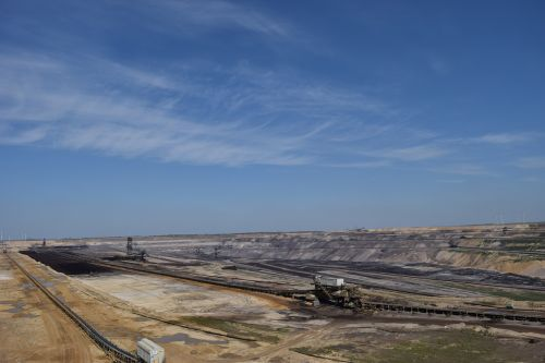 open pit mining carbon wasteland