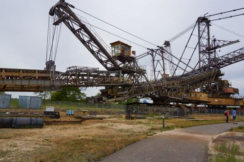 open pit mining brown coal excavators