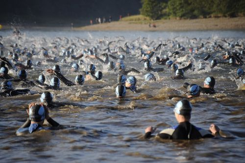 open water swim mass swim ironman