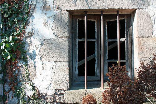 open window window grill old window