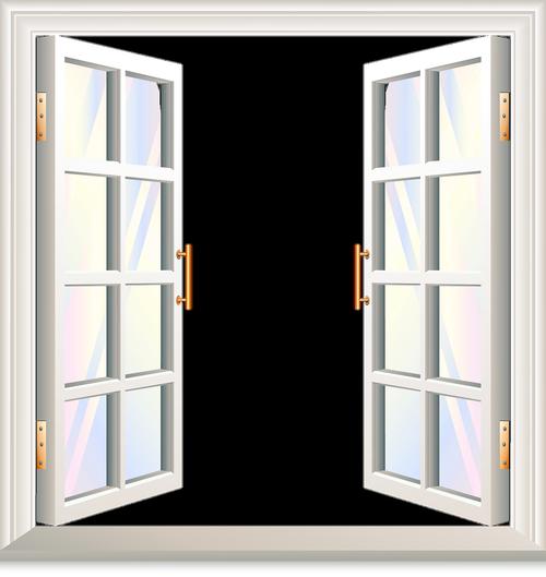 open window  window with shutters  copper