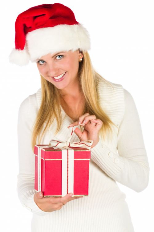 Opening A Christmas Gift