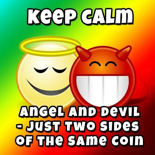 opposites angel devil