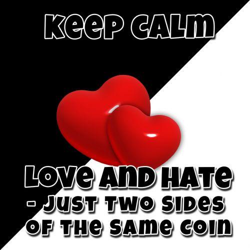 opposites heart black
