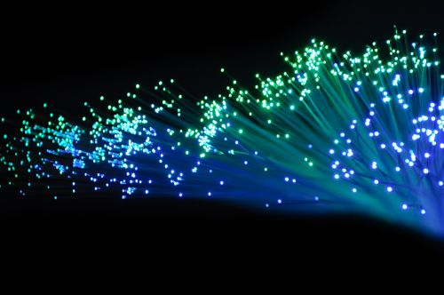 optical fiber light blue