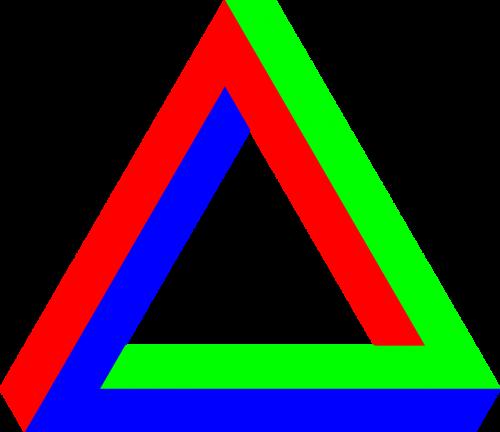 optical illusion illusion triangle